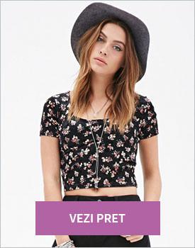 Forever21 Velveteen Rose crop top