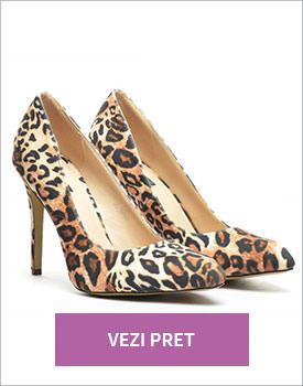 Pantofi Loly leopard