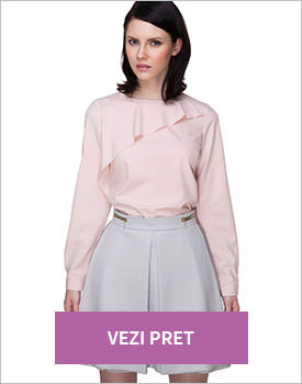 Bluza asymmetrical frill roz pal