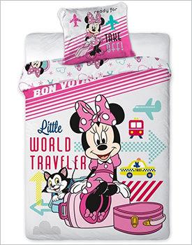 Lenjerie de pat Disney Minnie Mouse Travel