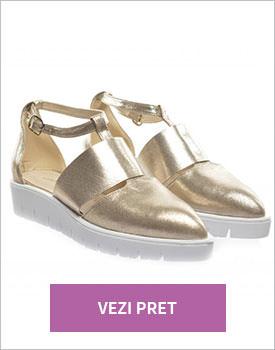 Pantofi casual Jimmy aurii