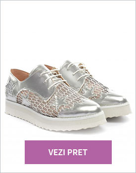 Pantofi casual Mido argintii