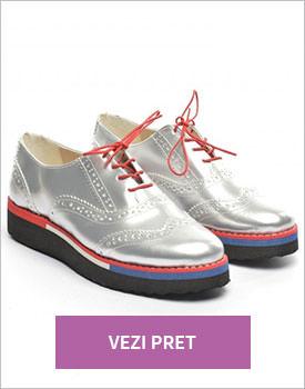Pantofi casual Barbero argintii