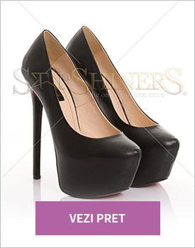 Pantofi Mineli Boutique Fantasy black