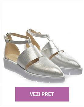Pantofi Jimmy argintii