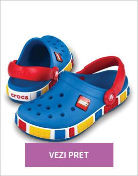 Papuci Crocs bleumarin