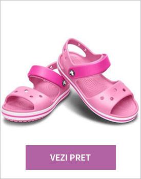 Sandale Crocs roz
