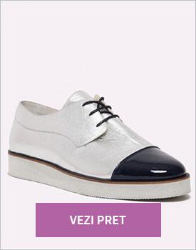 Pantofi dama metalizati Chemera