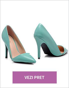 Pantofi eleganti verde menta