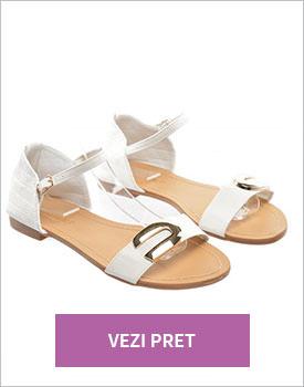 Sandale Macro albe