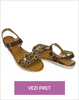 Sandale casual Modlet maro-leopard