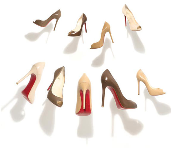 louboutin nude shoes
