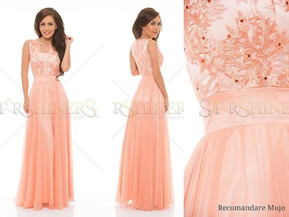 rochie ladonna lovely praise peach