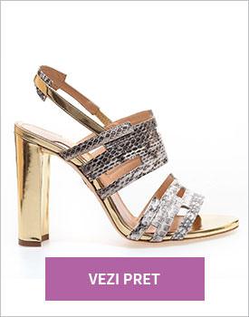 Sandale cu toc gros Chelsea Paris