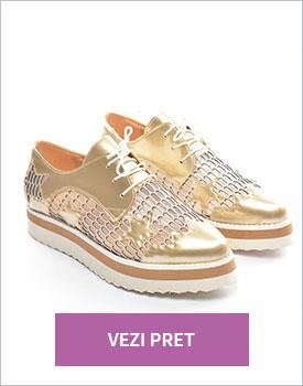 Pantofi casual Gardo aurii