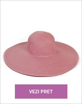 Palarie de plaja roz