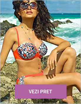 Costum de baie Izza orange