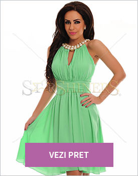 Rochie LaDonna Flaming Pearls verde
