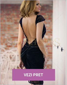 Rochie PrettyGirl Charming Style negru