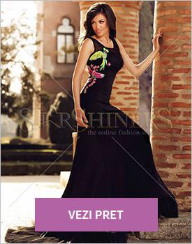 Rochie Starshiners brodata Angel negru