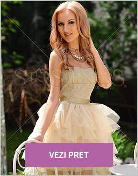 Rochie PrettyGirl Stylishly gold