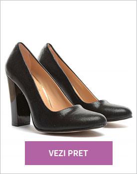 Pantofi Eos negri