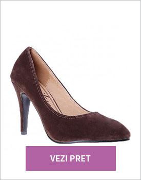 Pantofi cu toc Emily maro