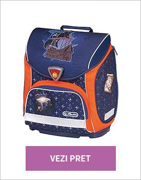 Ghiozdan Herlitz Pirate Sporti Plus echipat albastru