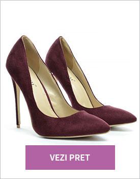 Pantofi Berta mov