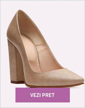 Pantofi dama din piele cu toc gros Siopi