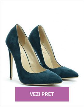 Pantofi Berta verzi