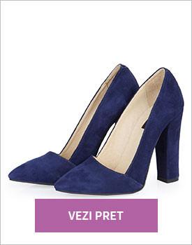 Pantofi stiletto Blackout albastri