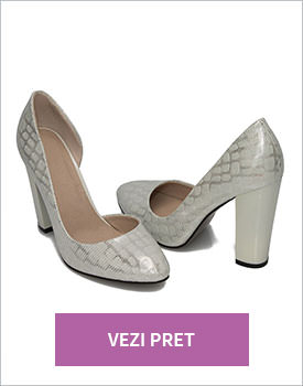 Pantofi de ocazie albi Dema