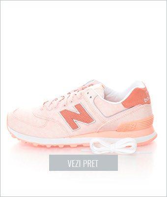 Pantofi sport roz somon New Balance