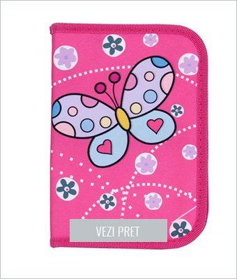 Penar fluture cu un fermoar roz