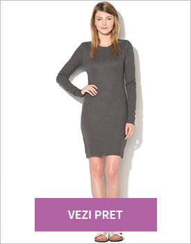 Rochie elastica gri inchis Vero Moda