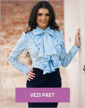 Camasa PrettyGirl Frill Guts bleu