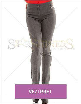 Pantaloni PrettyGirl Speculative gri