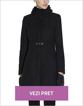 Palton negru Nissa