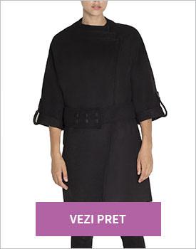 Palton elegant negru Nissa