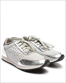 Pantofi sport Eduard argintii