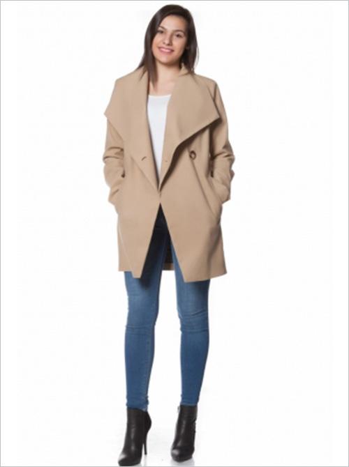 Palton de dama maro Well