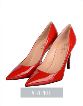 Pantofi Epica rosii din lac