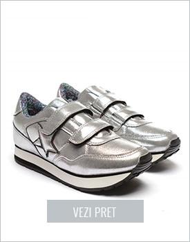 Pantofi sport Bastet argintii