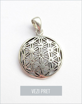 Pandantiv argint Floarea vietii