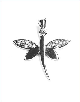 Pandantiv argint fluturas cu zirconii