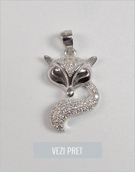 Pandantiv din argint vulpe