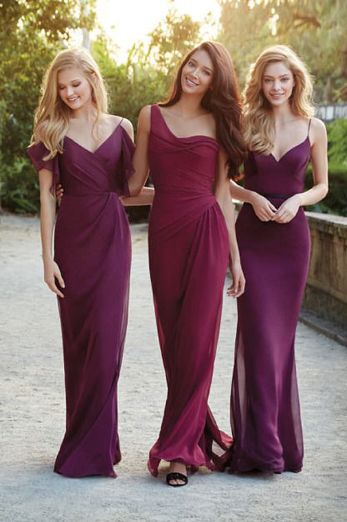 7mismatched-bridesmaids-dresses-in-the-same-color