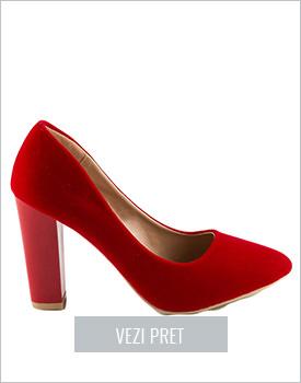 Pantofi dama rosii Hariett