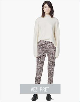 Pantaloni Mango imprimeu jaguar